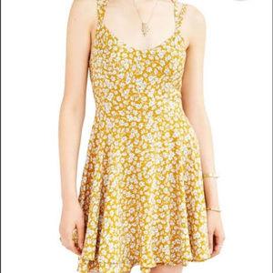 Kimchi Blue yellow floral print dress - size 6